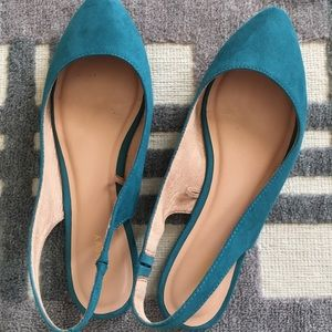 Old Navy Emerald Slingback Flats